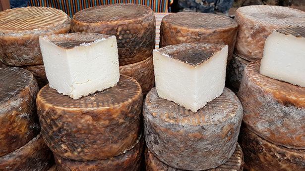 Muestra de quesos en Pinolere | Foto: J.L.C.