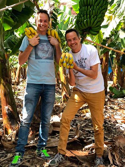 Los hermanos Torres, en la finca El Marzagal