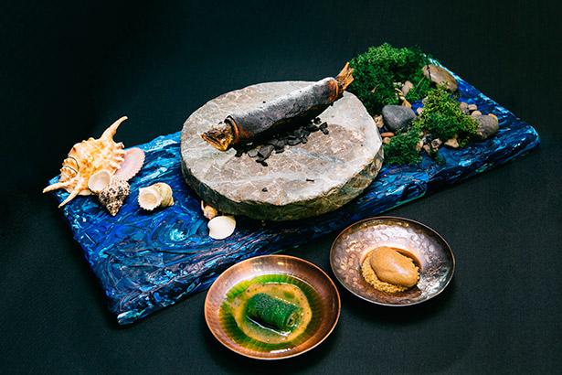 """El japonés impresionó al Gran Jurado con un plato marino titulado """"Across the sea"""""""