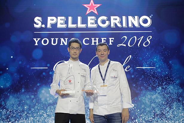 Yasuhiro Fujio, ganador de S.Pellegrino Young Chef 2018, junto a su Mentor Chef, Luca Fantin