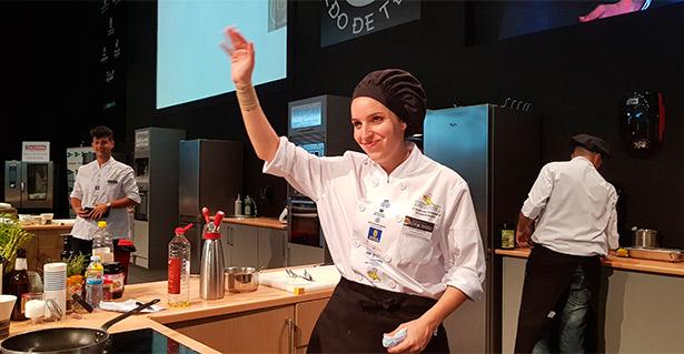 Eliana Real, cocinera del restaurante La Brasserie, logró el segundo premio en la final de Cocina de Canarias | Foto: abocados.es