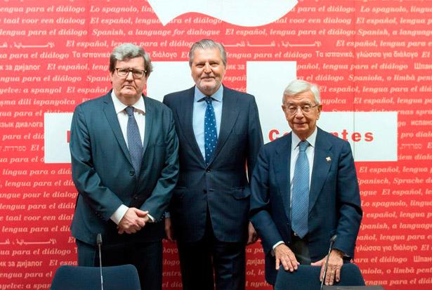Méndez Vigo (c) junto a Rafael Ansón (i)