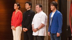 Berasategui, con los presentadores de Masterchef | Foto: RTVE