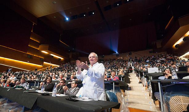 Arzak, en el auditorio de El Kursaal, donde se celebra San Sebastián Gastronomika | Foto: Coconut