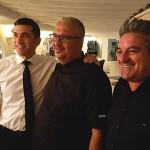 Germán Ortega con miembros de su equipo   Foto: J.L.C.
