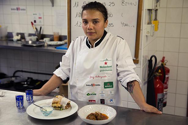 Yeni Valenzuela, ganadora del II Aula Heineken de Gastronomía