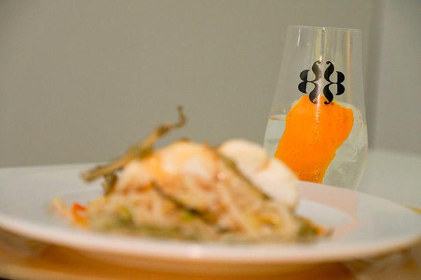 Lapuente armonizó platos diseñados expresamente para esta experiencia