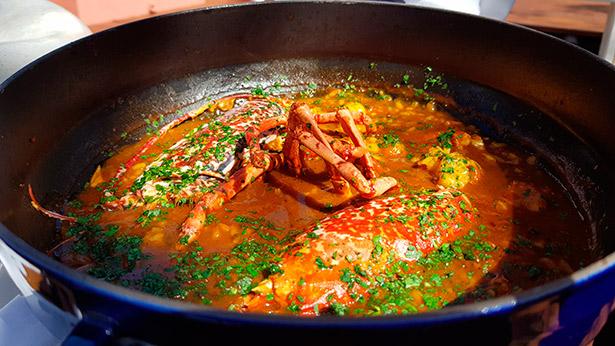 Arroz con bogavante en el restaurante El Mirador del hotel Abama   Foto: J.L. Conde