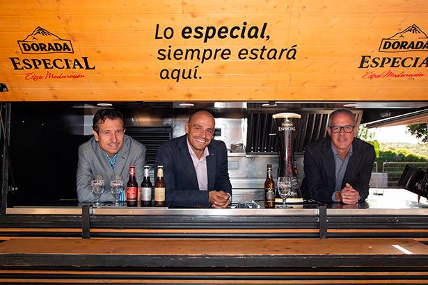 De izquierda a derecha, Jesús Morales, Alfonso Cabello y Luis Durango