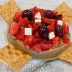 Mousse de berenjenas asadas con tomate y queso feta | Foto: J.L. Conde