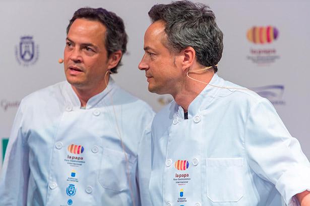 Sergio y Javier Torres, durante el Foro de la Papa celebrado en Tenerife | Foto: Enrique Guillermo
