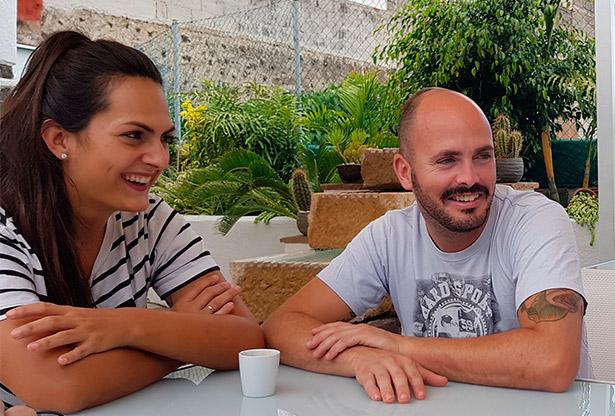 Los hermanos Víctor y Laura Suárez | Foto: J.L. Conde