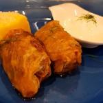 Sarmale, hojas de col marinada rellenas de carne con polenta | Foto: J.L. Conde