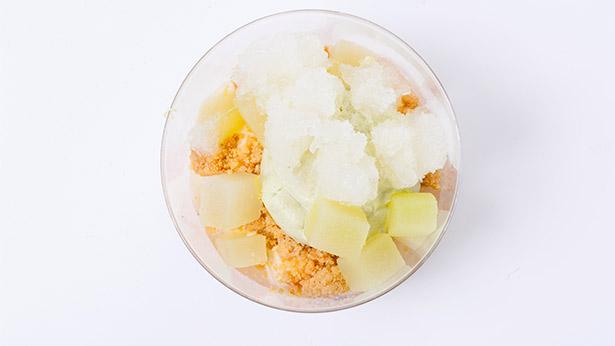 Postre de zanahoria con crema de queso comté, helado de alcaravea, aire de limón y crujiente de brioche que ha presentado en Gastronomika Jordi Butrón | Foto: Coconut