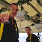 Pierre Résimont brinda con champán Taittinger | Foto: J. L. Conde