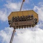 Imagen de la cabina de los comensales tomada desde el suelo