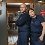 Andrea Bernardi y Fer Fuentes, en su restaurante Nub