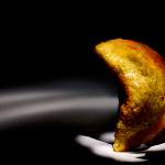 Trucha de plátano verde con almogrote