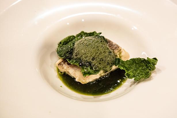 Cherne con algas del chef Abrahám Ortega