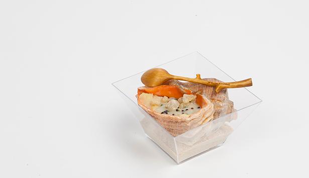 Plato elaborado por Vladimir Mukhin en San Sebastián Gastronomika | Foto: coconut