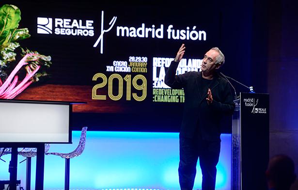 Ferran Adrià, durante su intervención en Madrid Fusión