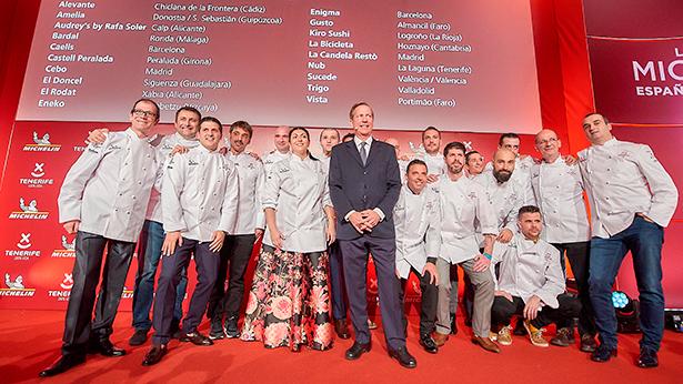 Imagen de la gala Michelin celebrada en el hotel The Ritz Carlton Abama. | Foto: Sergio Méndez