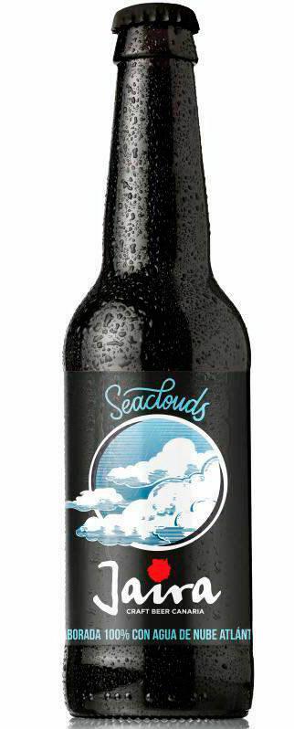 Botella de cerveza Jaira 'Seaclouds', la primera del mundo elaborada con agua de nube atlántica