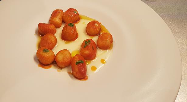 Gnochis de Anthony Genovesse, del restaurante Il Pagliaccio de Roma | Foto: J. L. Conde