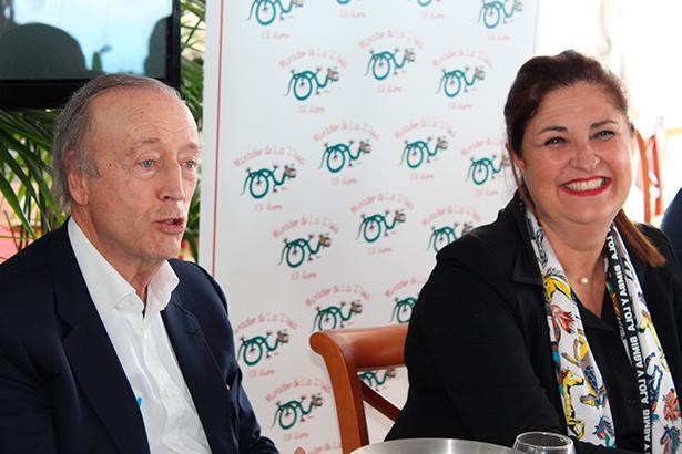 Miguel A. Torres y Belén Allende, presidenta del Cabildo de El Hierro