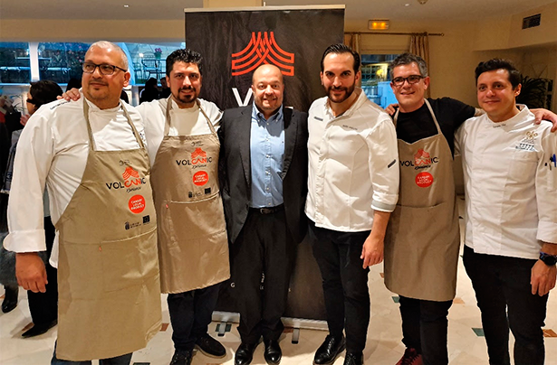De izquierda a derecha, Germán Ortega, Alberto Margallo, José Díaz Flores, Mario Sandoval, Joao Faraco y Fernando Díaz
