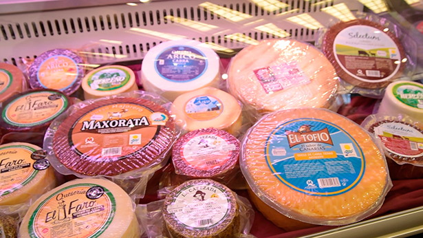 En el estand de GMR se pudieron degustar un total de 25 quesos elaborados en diferentes islas
