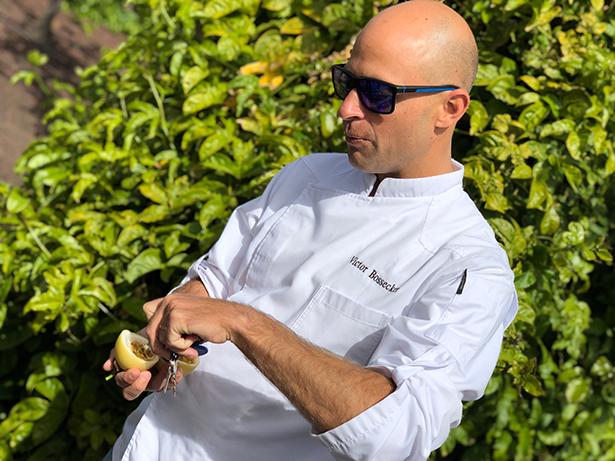 El chef Víctor Bossecker
