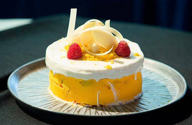 La tarta elaborada por la ganadora, Laura Suárez