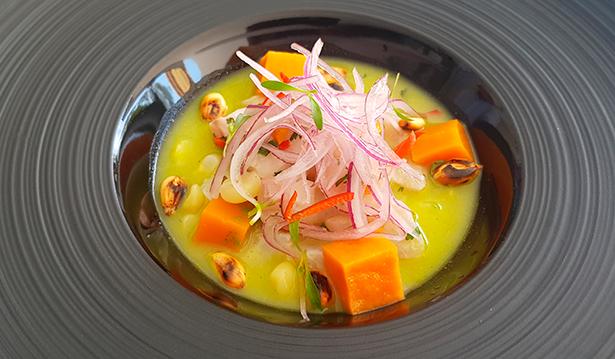 Ceviche clásico de lubina del restaurante Qapaq   Foto: J. L. Conde