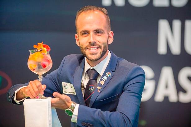 Oliver Alberto Alayón, ganador en la modalidad barman y destreza   Foto: Asociación de Barman de Tenerife