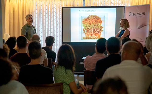 Nacho Solana y Cristina Gámez, durante la presentación del proyecto