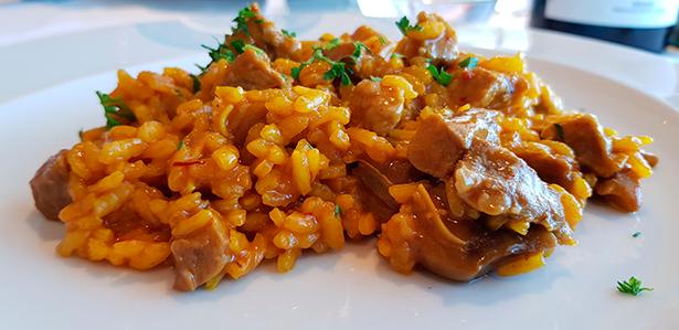 Plato de arroz en el restaurante El Mirador, de El Corte Inglés | Foto: J. L. Conde