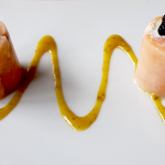 La Finca: Bombones de salmón rellenos de crema de rábano | Foto: J.L. Conde