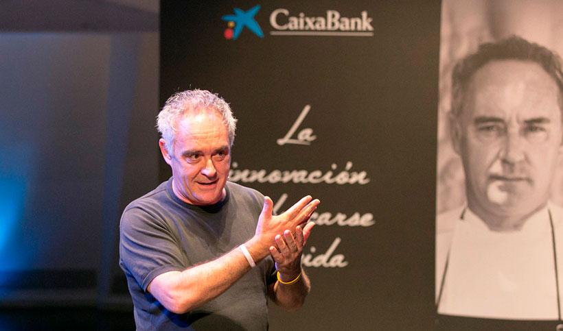 Ferran Adrià, durante la presentación de la guía en Tenerife