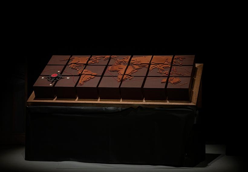 Una tarta de chocolate recreó el viaje de Elkano | Foto: Coconut