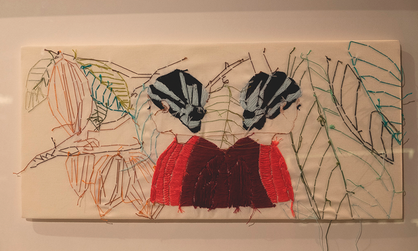 La obra de Adassa Santana que ilustra las cajas de bombones | Foto: Fran Pallero