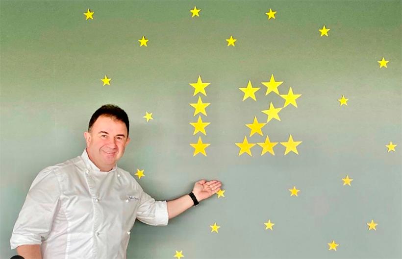 Martín Berasategui colgaba esta imagen de las 12 estrellas en su cuenta de Instagram