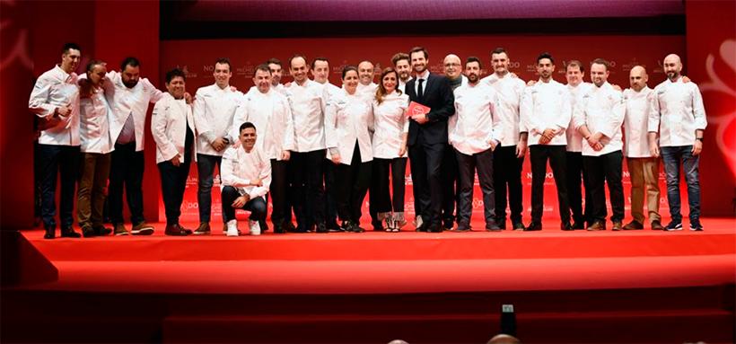 Foto de familia de los premiados este año con estrellas | Foto: Guía Michelin