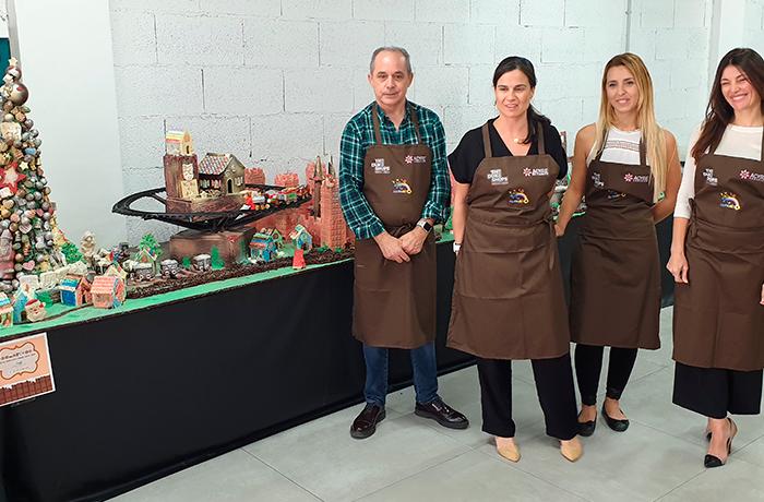 Imagen de la presentación del Belén de chocolate
