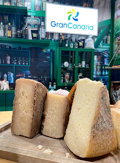 Cuñas de queso de Gran Canaria, en la reciente feria Madrid Fusión