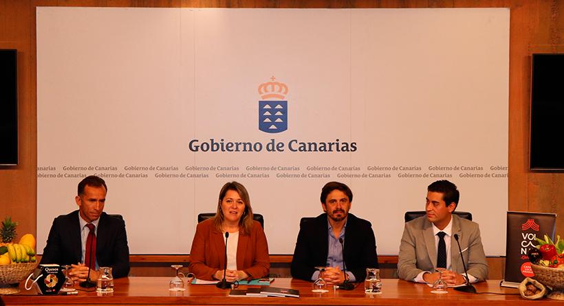 Alicia Vanoostende, Álvaro de la Bárcena, Jorge Marichal y Fernando Miñarro Mena, durante la presentación del programa