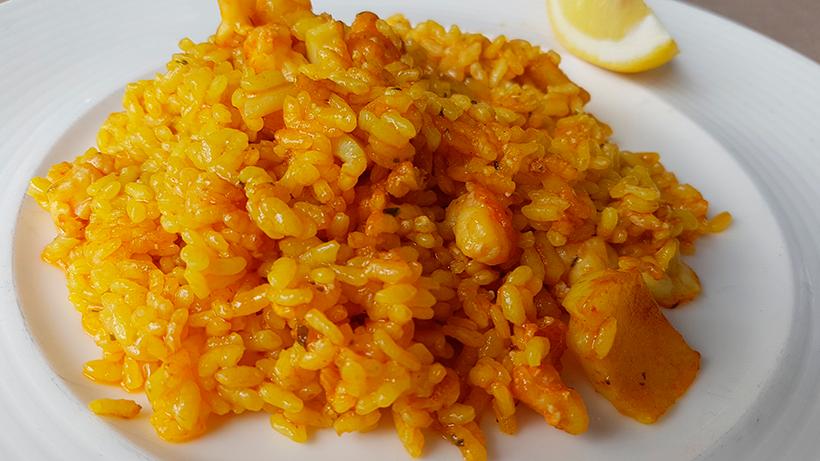 Plato de arroz   Foto: José L. Conde
