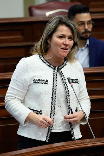 La consejera de Agricultura, Ganadería y Pesca del Gobierno de Canarias, Alicia Vanoostende
