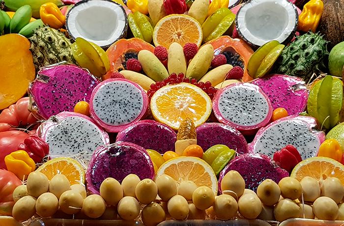 Puesto de frutas en el Mercado de Vegueta, en Las Palmas de Gran Canaria | Foto: José L. Conde