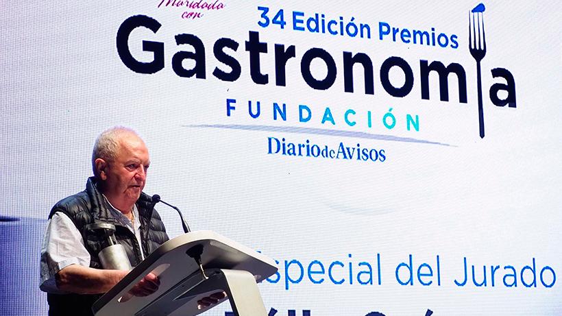 Arzak, durante la entrega de los premios de Gastronomía de Diario de Avisos | Foto: Sergio Méndez